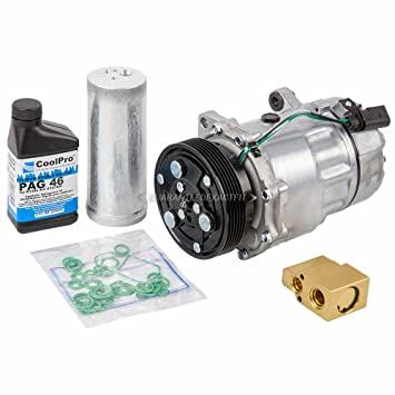 AC Compressor w/A/C Repair Kit For Volkswagen Golf & Jetta Mk4 2000