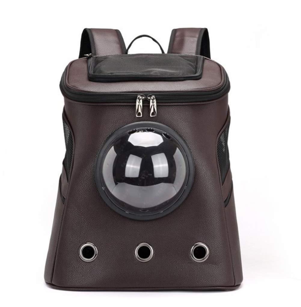 Brown Pet Bag Pet supplies convenient travel bag 40  30  46CM Outdoor Out Portable Backpack Cat Rabbit Travel Bag XIAHE