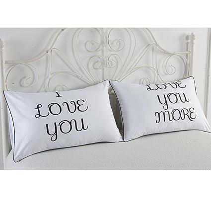 74 * 48 cm Funda de almohada, kingko® Romántico parejas ...
