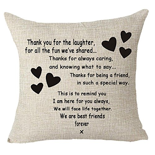 Best gifts to sisters we are best friends forever friends Throw Pillow Cover Cushion Case Cotton Linen Material Decorative 18