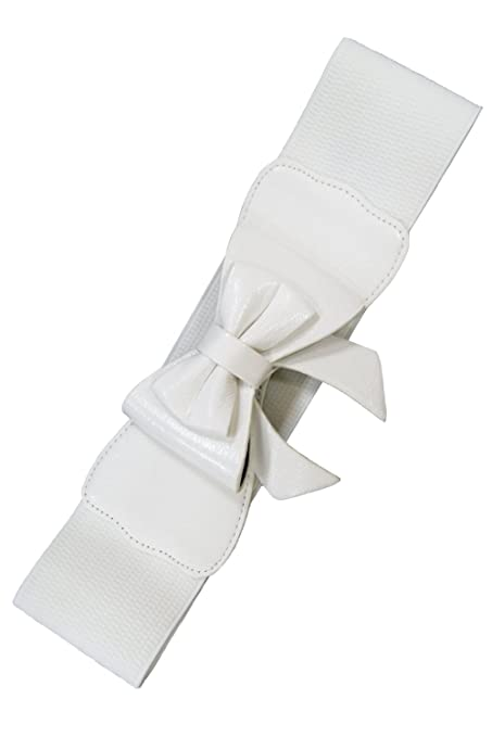 Vintage Wide Belts, Cinch Belts Banned Play It Right Belt - White / UK 10 / US 6 / EU 36 $8.95 AT vintagedancer.com