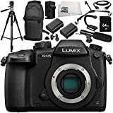 Panasonic Lumix DC-GH5 Mirrorless Micro Four Thirds Digital Camera 13PC Accessory Bundle – Includes 64GB SD Memory Card + MORE - International Version (No Warranty)