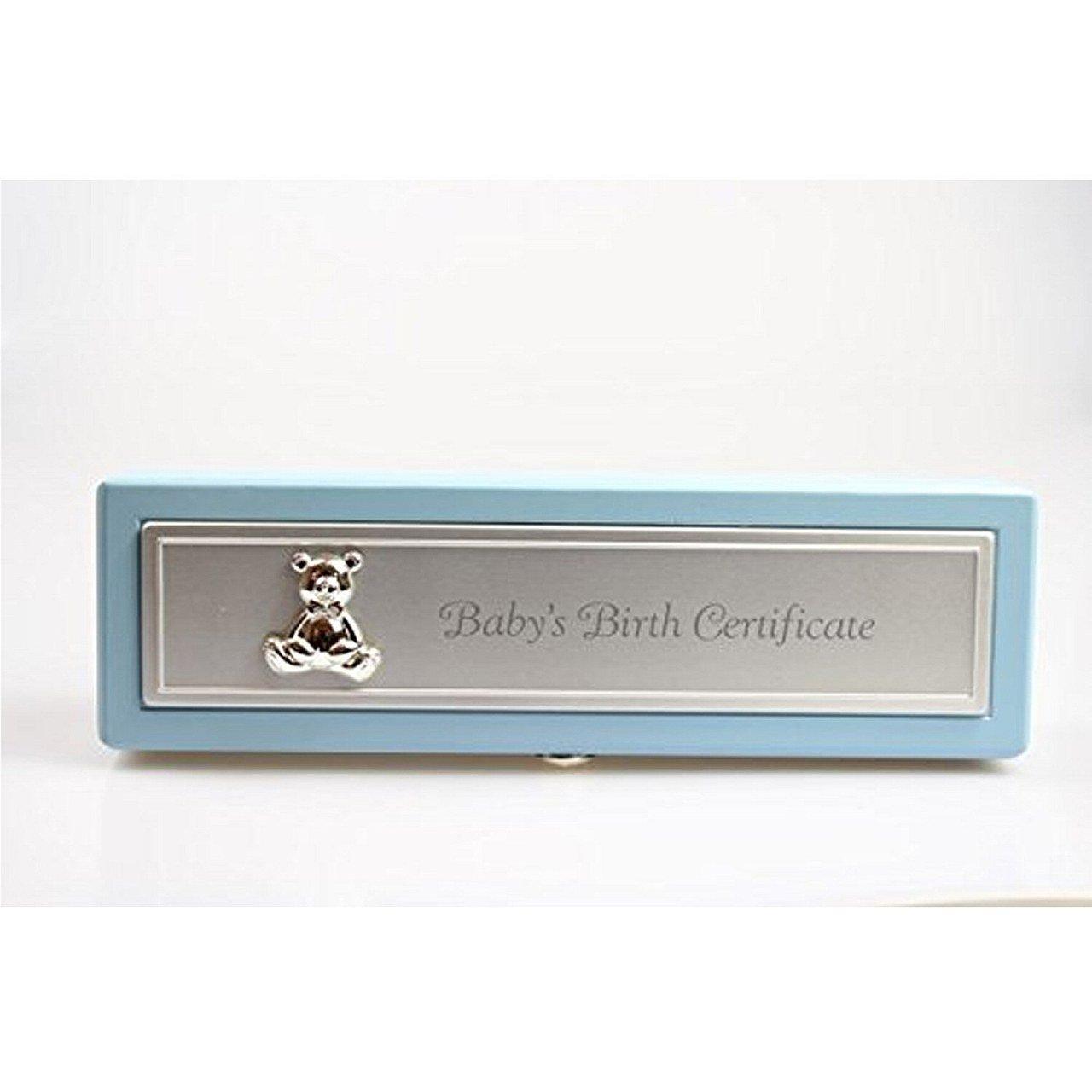 Birth Certificate Holder - Blue (Blue) Shudehill Giftware 52231