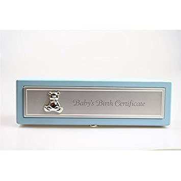 Birth Certificate Holder - Blue (Blue): Amazon.co.uk: Baby