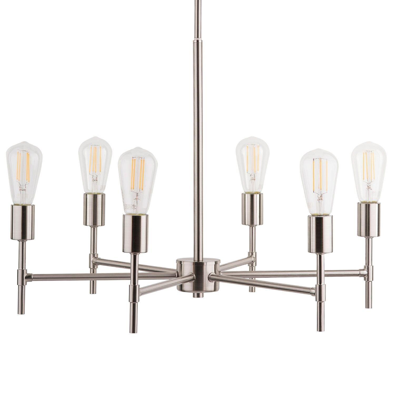 Marabella LED Sputnik Chandelier Light Fixture Brushed Nickel