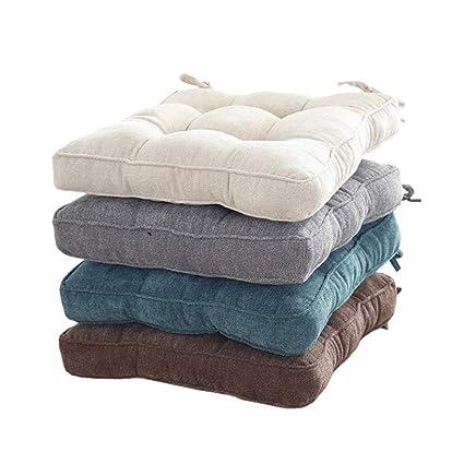 YYYL 2 Piezas,Cojines para Asientos, Cojines tapizados Muebles de jardín, 45 x 45 x 10 cm, en Diferentes Formas y Colores, Azul, Cuadrado