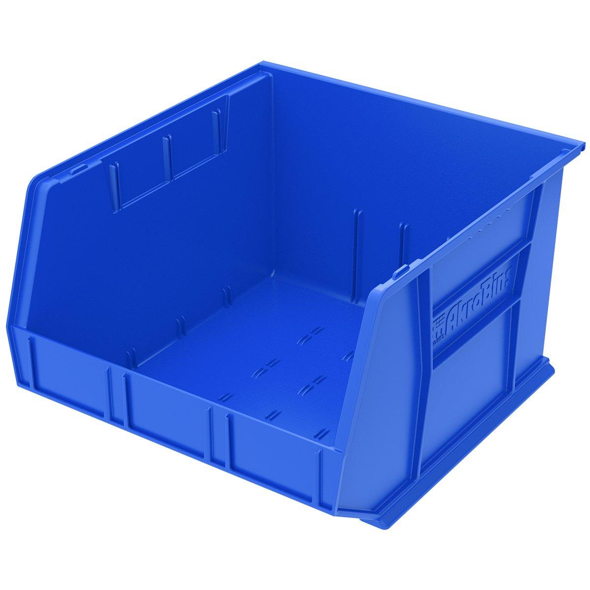 Akro-Mils 30270 Plastic Storage Stacking AkroBin, 18-Inch by 16-Inch by 11-Inch, Blue, Case of 3 by Akro-Mils
