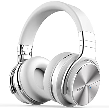 COWIN E7 PRO [2018 Upgraded] Active Noise Cancelling Headphone Bluetooth Headphones with Microphone Hi-Fi Deep Bass Wireless Headphones Over Ear 30H ...