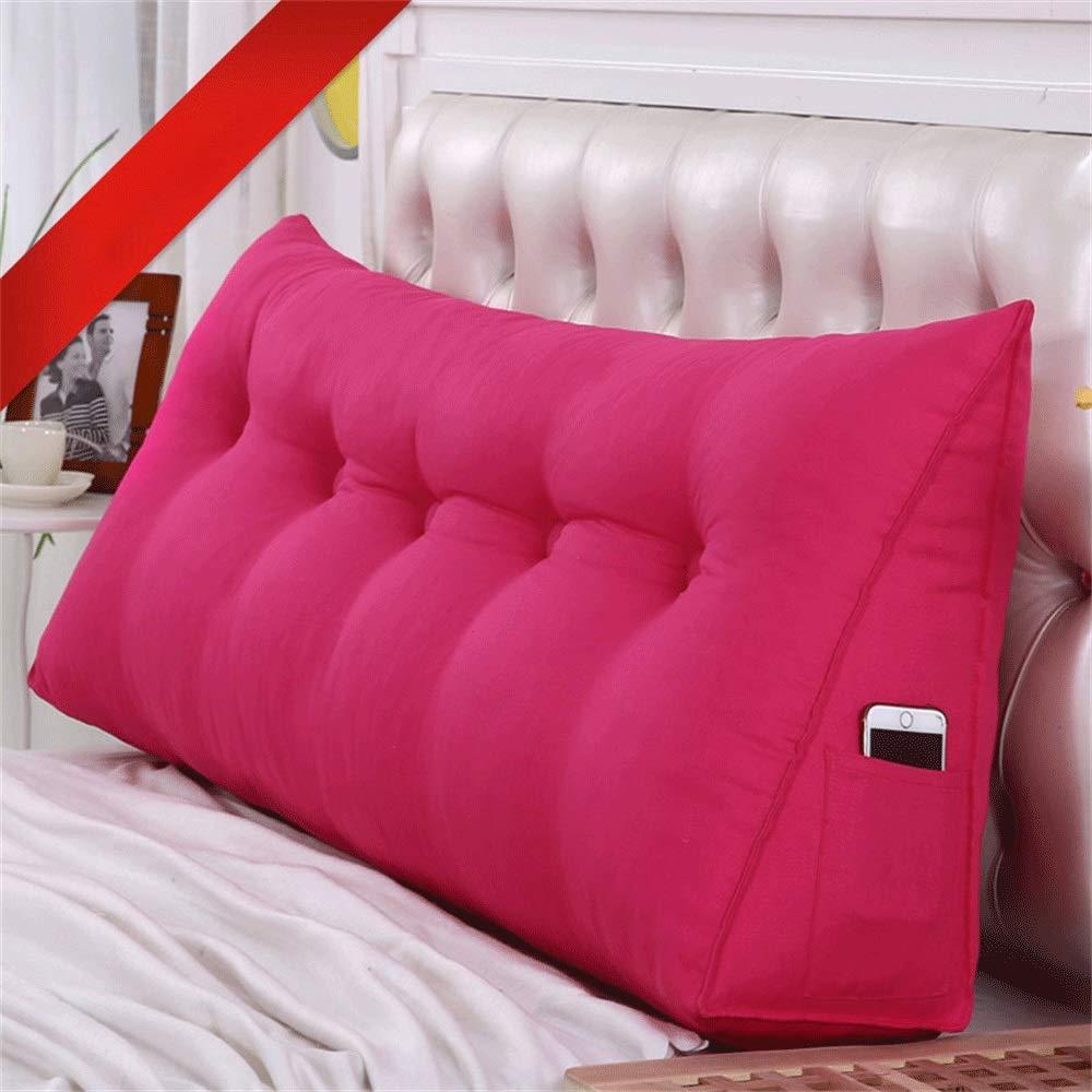 GLP ベッドクッショントライアングルラージバックソフトケースピローウエストピロー洗えるベッドサイドダブルベッドルーム枕漫画、19色&7サイズ (Color : O, Size : 150X50X20cm) B07R15G4YG