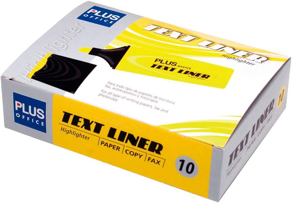 Pack de 10 Marcador Fluorescente Plus TEXT LINER Amarillo