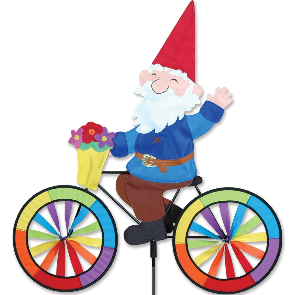 Amazoncom Bike Spinner Gnome Wind Spinners Patio Lawn