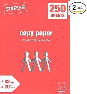 Staples Copy Paper Multipurpose Laser Inkjet 8 1 2 X 11 Inch Letter
