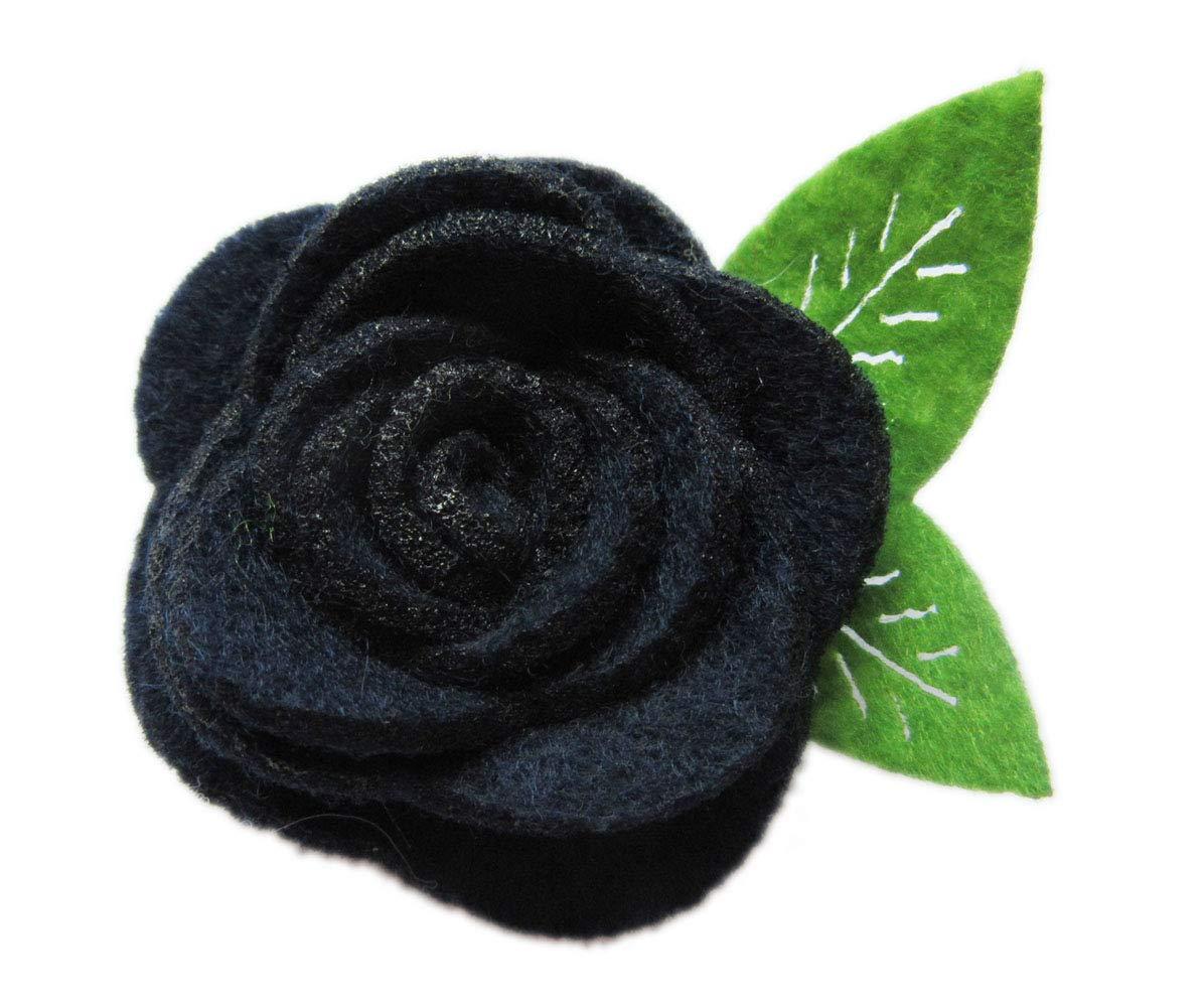 YYCRAFT Pack of 20PCS Felt Rose 1.5 4D Flower Wedding Applique Bow-Ivory