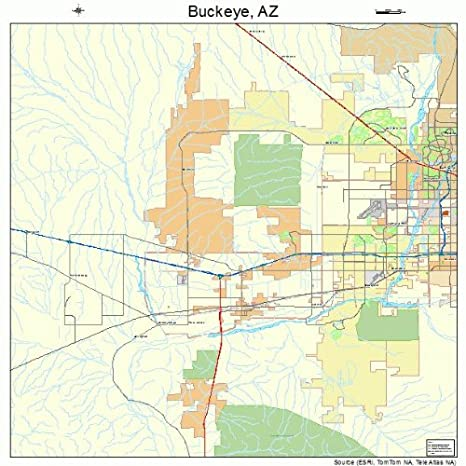 Buckeye Arizona Map Amazon.com: Large Street & Road Map of Buckeye, Arizona AZ