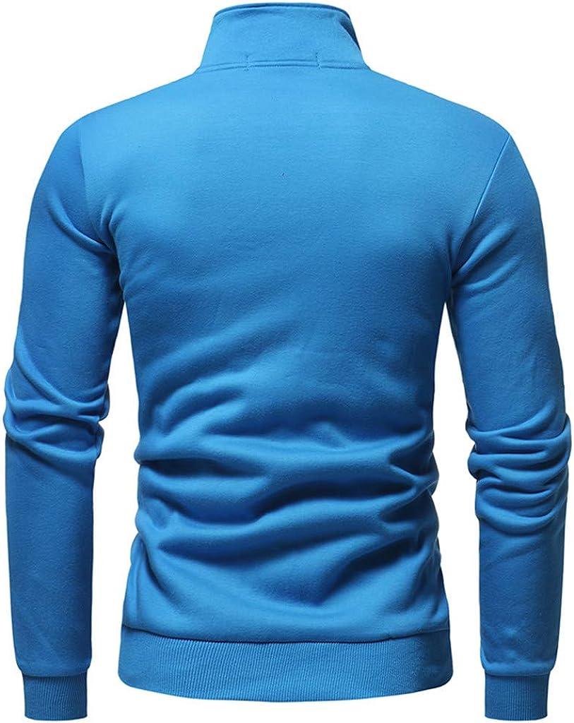 Solid Blouse Tops for Men Slim Fit Sweatshirt Coats Casual Hoodies Outwear Tracksuit Outwear Jacket Slim Fit WEI MOLO