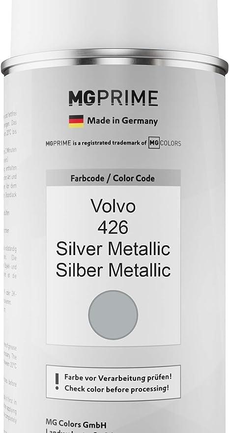 Mg Prime Autolack Sprühdosen Set Für Volvo 426 Silver Metallic Silber Metallic Basislack Klarlack Spraydose 400ml Auto