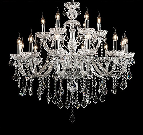 Generic Luxury Pendant Lamp Crystals Chandelier 18 Lights Arms Lamp Color Clear by non-brand (Image #9)