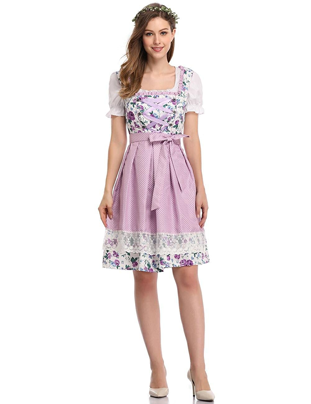 cf707cb3166 Feature  Women s holiday costumes dress for beer festival. Splicing suits