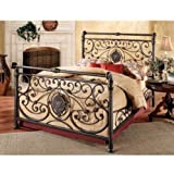 Width of California King Size Bed Hillsdale Furniture 1039BCKR Mercer Bed Set with Rails, California King, Antique Brown