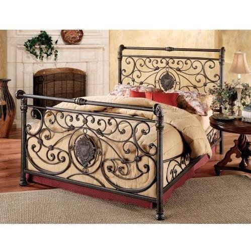 Hillsdale Furniture 1039BCKR Mercer Bed Set with Rails, California King, Antique - California Hillsdale