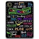 Honey Dew Gifts Chalkboard Style Last Day School Photo Prop Tin Sign -9 x 12 inch Reusable Easy Clean - Customizable Liquid Chalk Markers (Not Included)