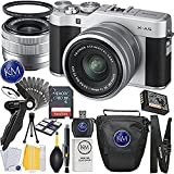 Fuji X-A5 Mirrorless Digital Camera w/ XC15-45mm Lens Kit (Silver) + 32GB Memory + K&M Photo Accessory Bundle