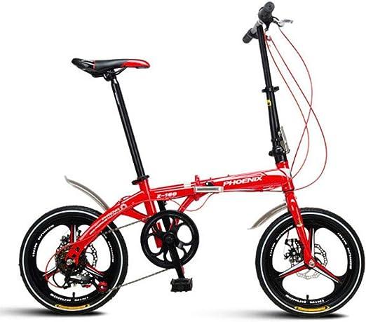Paseo Bicicleta Plegable Bicicleta De 16 Pulgadas Hombres Adultos ...