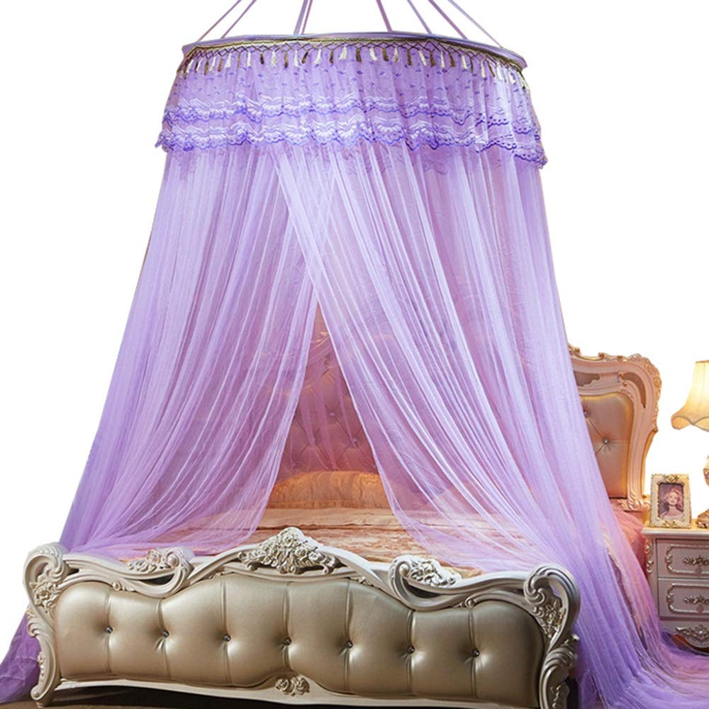 Purple 1.22M bedLace Bed Canopy Mosquito Bed,Mosquito Net Ceiling Ceiling Dome Free Inssizetion Mesh AntiInsect Inssizetion Bed Mosquito Net