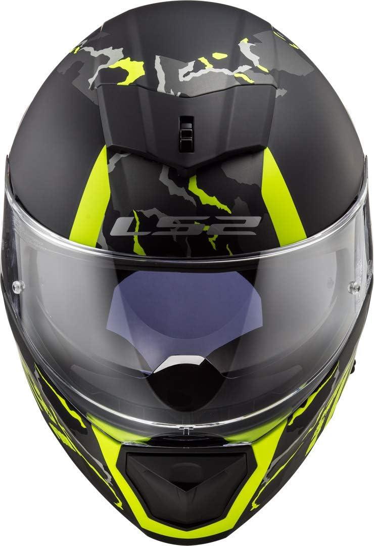 Motorcycle helmets LS2 FF390 BREAKER FELINE MATT HI VIS Yellow Noir//Jaune M