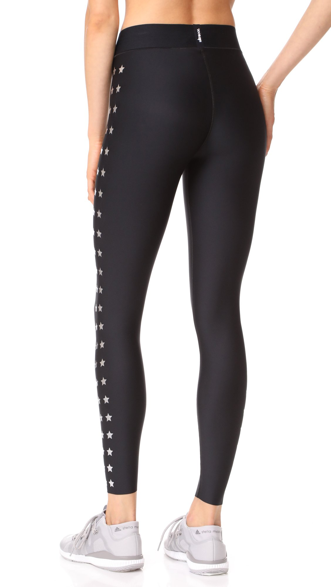 Ultracor Women's Ultra Matte Flash Knockout Leggings, Nero/Silver, X-Small by Ultracor (Image #2)
