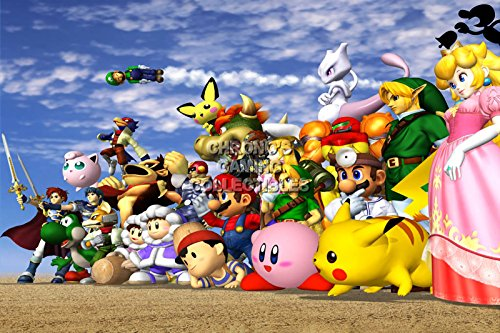 "Price comparison product image CGC Huge Poster - Super Smash Bros. Wii U 3DS Melee - SMA033 (16"" x 24"" (41cm x 61cm))"