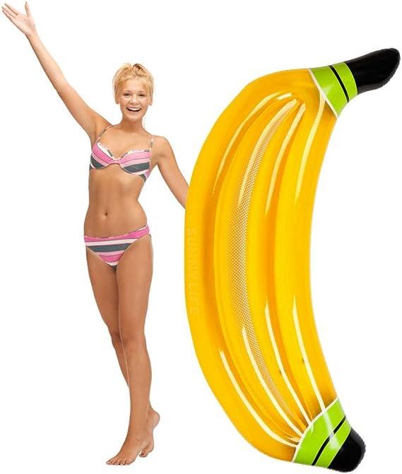Luftmatratze Badeinsel Pool Schwimmende aufblasbar Banane Bananaboot Länge 155cm