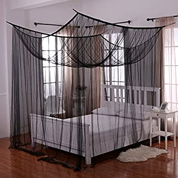 Heavenly 4-Post Bed Canopy Black & Amazon.com: Heavenly 4-Post Bed Canopy Black: Home u0026 Kitchen