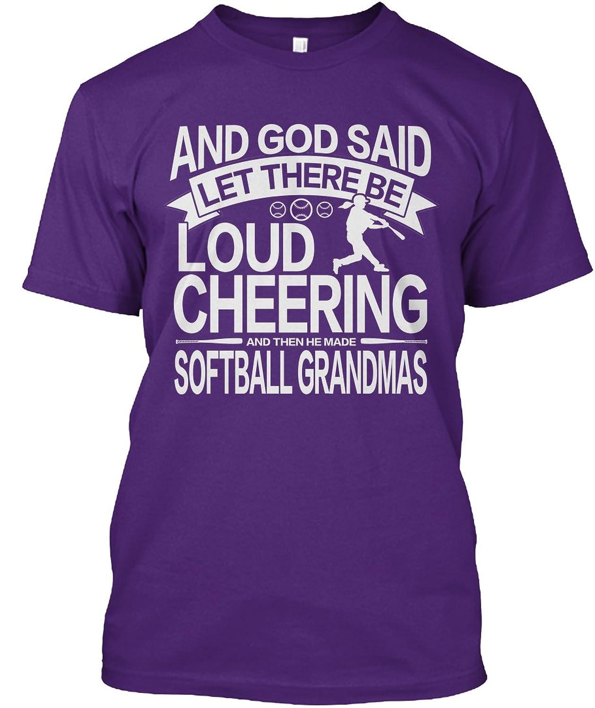 Teespring Unisex Loud Cheering Softball Grandma - Fastpitch Nana Design Hanes Tagless T-Shirt