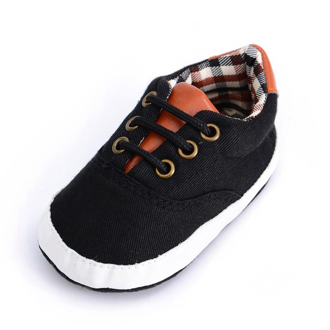 8566a3e7533f4 Amazon.com  Kimloog Newborn Toddler Baby Girl Boy Canvas Sneakers Infants  Soft Anti-Slip Shoes 0-12 Months  Clothing