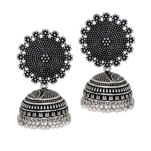 Jaipur-Mart-Oxidised-Silver-Plated-handmade-Jhumka-Jhumki-Earrings-For-Women