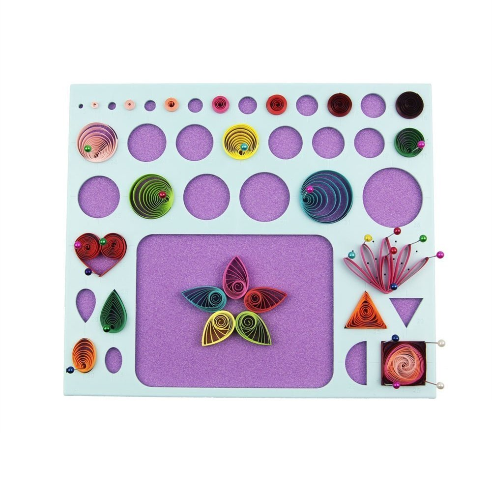 YURROAD 3 in 1 Paper Quilling Template Board Quilling DIY Tool QUSHE