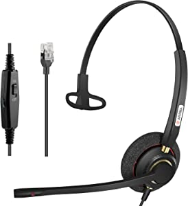 Arama Cisco Headset with Noise Canceling Microphone Adjustable Volume Mute Switch ONLY for Cisco IP Phones: 6941, 7841, 7861, 7941, 7942, 7945, 7960, 7961, 7962, 7965, 8845, 8945,M12 M22 etc
