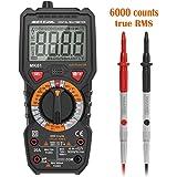 Multimètre Numérique, Meterk TRMS 6000 Points/Ampèremètre/Voltmètre/Ohmmètre/Ecran LCD Rétroéclairé/NCV/Mesure de Température (MK01)