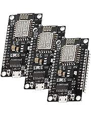 AZDelivery 3 x NodeMCU Lolin V3-modul ESP8266 ESP-12F WIFI Wifi-utvecklingskort med CH340 kompatibel med Arduino inklusive en E-Book!