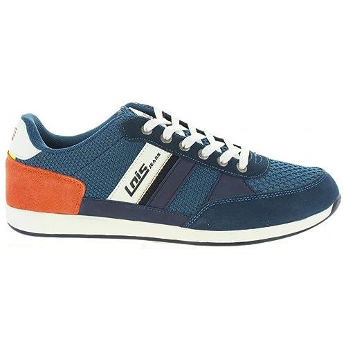 LOIS JEANS Zapatillas Deporte de Hombre 84448 107 Marino Talla 42: Amazon.es: Zapatos y complementos