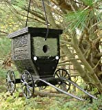 Cheap Amish Buggy Birdhouse. Made of high quality painted wood and cast aluminum this birdhouse is made to closely resemble the same Amish buggies you would find on the roads and farms of our local Amish community. This unique piece looks great on a porch or small tree. Makes a great gift! Each birdhouse is handmade by skilled Amish craftsmen, then hand packaged and shipped. You will not be disappointed with this purchase!