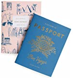Rifle Paper Passport / Bon Voyage Passport Pocket Size Journal Notebooks, Set of 2 Notebooks