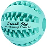 FeimaHX IQ Treat Ball for Dogs and Cats (Dental Treat and Bite Resistant) Durable Bouncy Non-Toxic Soft Rubber Strong Tooth Cleaning and IQ Training Toy for Pet Chewing/ Playing