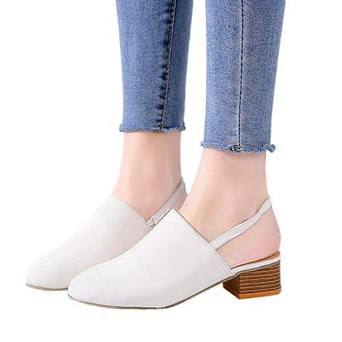 QinMM Mocasines cuña Sandalias Tacón Alto para Mujer Leopardo Zapatillas Zapatos de Merceditas Casual: Amazon.es: Zapatos y complementos