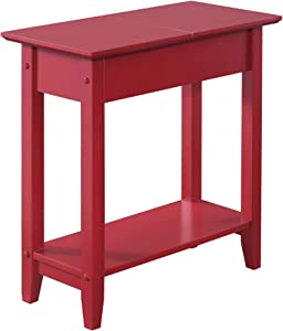 Convenience Concepts , Cranberry Red American Heritage Flip Top End Table