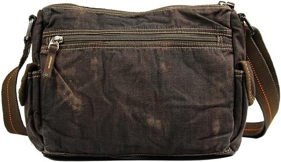 RXF Mens Canvas Shoulder Messenger Bag Casual Business Color : 1#, Size : S