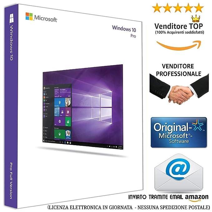 b73eb68ab5d922 WINDOWS 10 PROFESSIONAL 64 BIT - Licenza Elettronica inviata in giornata  tramite email Amazon - (NESSUNA SPEDIZIONE POSTALE nè CD/DVD: Amazon.it:  Software