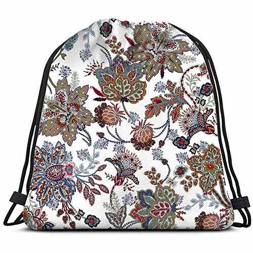 Watercolor Flower The Arts Drawstring Bag Backpack Gym Dance Bag Reversible Flip Sequin Bling Backpack For Hiking Beach Travel Bags