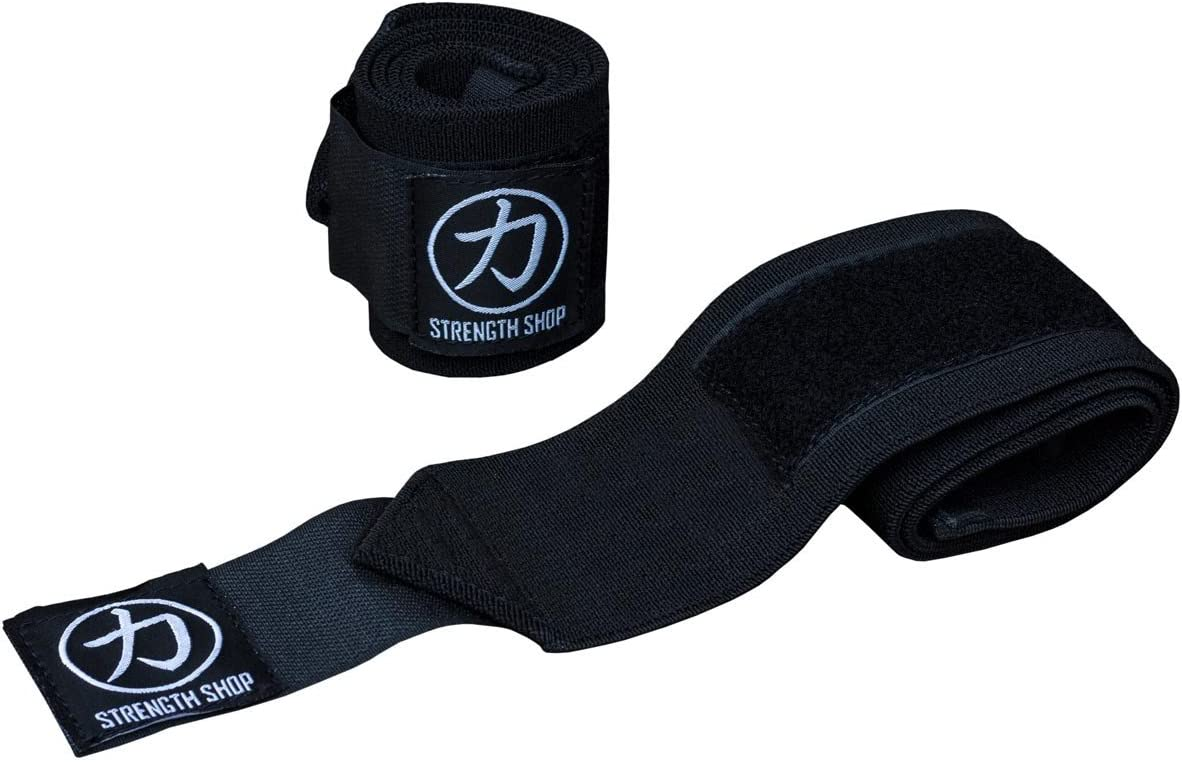 "30cm 60cm 12/"" 24/"" Weightlifting BLACK Strength Shop Hercules Wrist Wraps"